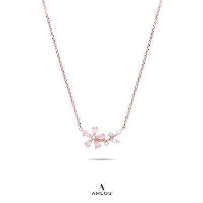 L'amour 粉紅櫻花頸鏈