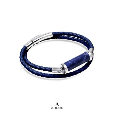 藍紋石CC皮繩 (雙圈)