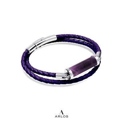 紫水晶CC皮繩 (雙圈)