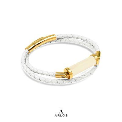 黃電水晶CC皮繩 (雙圈)