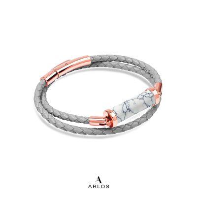 白松石CC皮繩 (雙圈)