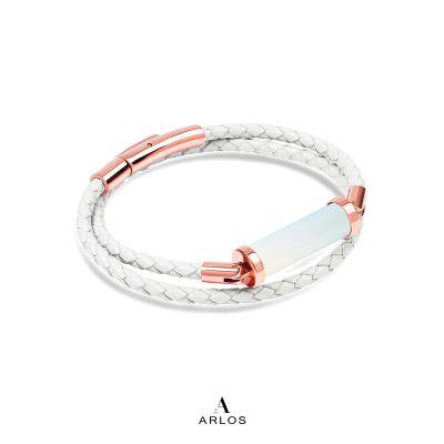 蛋白石CC皮繩 (雙圈)