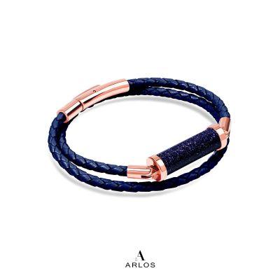 藍砂石CC皮繩 (雙圈)