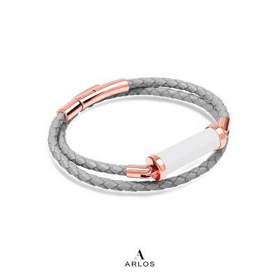 白玉CC皮繩 (雙圈)