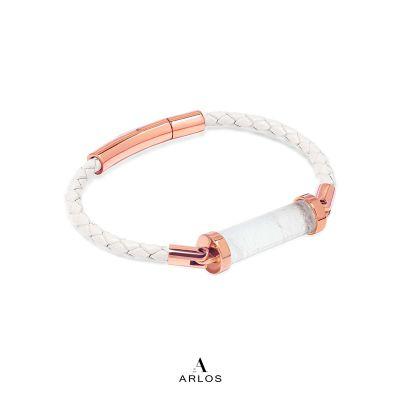 白水晶CC皮繩 (單圈)