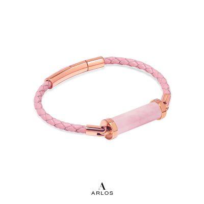 粉晶CC皮繩 (單圈)