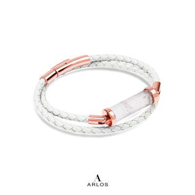 白水晶CC皮繩 (雙圈)