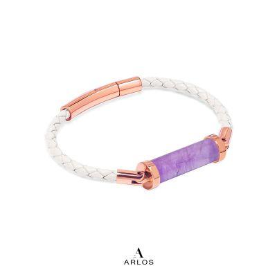 薰衣草紫水晶CC皮繩 (單圈)