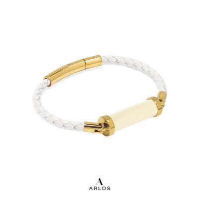 黃電水晶CC皮繩 (單圈)