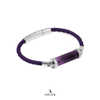 紫水晶CC皮繩 (單圈)