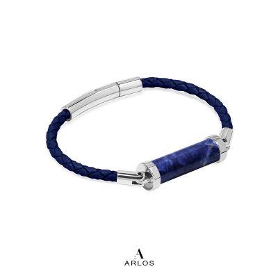 藍紋石CC皮繩 (單圈)
