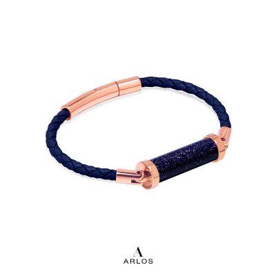 藍砂石CC皮繩 (單圈)
