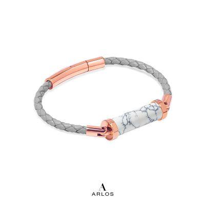 白松石CC皮繩 (單圈)