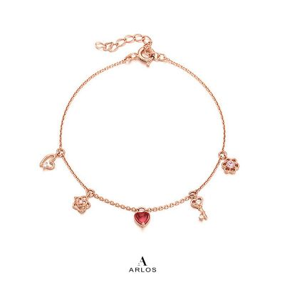 L'amour 玫瑰金甜心手鏈