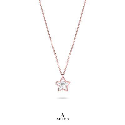 L'amour 閃爍星星頸鏈 - 玫瑰金