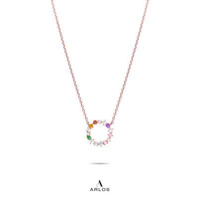 L'amour 彩虹圈頸鏈